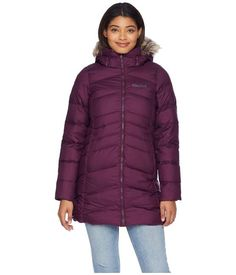 059504aa Marmot Dark Purple Montreal Women's Down Jacket Hood Zipper Coat Size 0  (XS). Tradesy