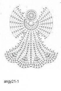 crochet / Pattern for Santa na Stylowi. Filet Crochet, Thread Crochet, Crochet Doilies, Crochet Flowers, Crochet Christmas Decorations, Christmas Crochet Patterns, Crochet Snowflakes, Crochet Angel Pattern, Crochet Angels