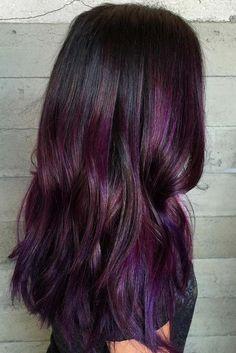 Cool Ideas of Purple Ombre Hair ★ See more…