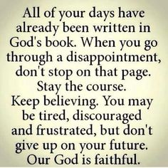This is so amazing to think about when you put it in perspective. god loves us SO much that He already has every detail planned out in our lives. We, as believers, just have to have faith and trust in Him to allow us to do the things He has planned! Good Quotes, Quotes To Live By, Me Quotes, Inspirational Quotes, Motivational, The Words, Religious Quotes, Spiritual Quotes, Faith Quotes