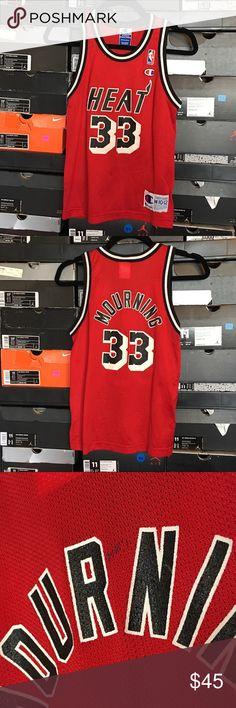 e572483ba Champion Miami Heat Alonzo Mourning Jersey Vintage Champion Miami Heat  Alonzo Mourning Jersey. Kids size