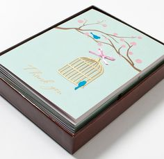 birds cage note cards from papyrus - Papyrus Wedding Invitations