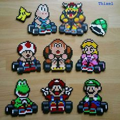 Image result for video games hama beads