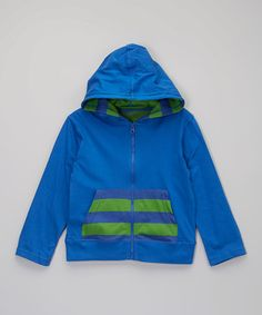 Another great find on #zulily! Ceramic Blue Charlie Organic Hoodie - Toddler & Boys by Soft Clothing #zulilyfinds