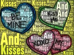 """These are the """"Candy Hearts"""" transformed in iPad app WordFoto with a personal valentine message for the artist's family. Please leave a comment for your artist."""