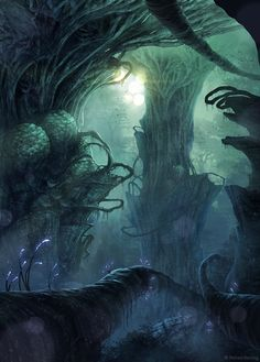 Alien Forest by Richard Benning, via Behance