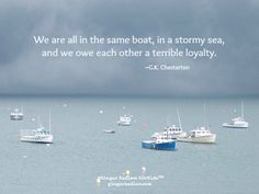 We are all in the same boat...