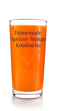 Homemade Apricot Mango Kombucha {Real Food, Paleo, Primal, Traditional Foods, Fermented Foods, Healthy Recipes, Healthy Drinks, Healthy Living, Natural Living, Energy Drinks, Grain Free Recipes, Gluten Free Recipes}