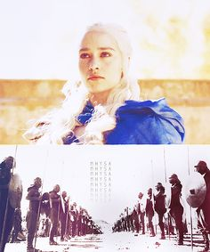 """""""Mhysa!"""" they called. """"Mhysa! MHYSA!"""" They were all smiling at her, reaching for her, kneeling before her. """"Maela,"""" some called her while others cried """"Aelalla"""" or """"Qathei"""" or """"Tato,"""" but whatever the tongue it all meant the same thing. Mother. They are calling me Mother. by jorahtheexplorah"""