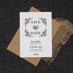 This perfectly pretty rustic leaves save the date feature rustic drawn leaves and a pastel pink heart. A perfect way to ask your guests to save the date. Wedding Color Schemes, Wedding Colors, Festival Themed Wedding, Save The Date Wording, Wedding Invitation Cards, Motto, Pretty In Pink, Wedding Planning, Dream Wedding