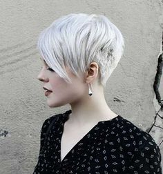 Asymmetrical Pixie Cut More