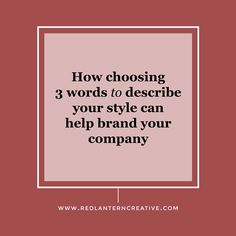 If you've been following along with our branding series posts you've done a  lot of work up to this point. So far you've filled out questions 1-4 on our  branding questionnaire and now you can quickly define your company and what  you offer in one sentence, you have a clear value proposition and