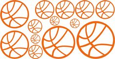 Basketball Vinyl Wall Art Decals by NewWaveSigns on Etsy