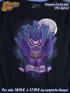 """I'm the Joke"" El #Joker se ha vestido de #Batman para gastarnos una broma. Parece que al mismísimo #CaballeroOscuro no le ha hecho ninguna gracia... #Camisetas #Divertidas #Fanisetas #DCComicas #DC #Gotham #Comic #Chibi #Manga #Anime http://www.fanisetas.com/camiseta-im-the-joke-p-6069.html"