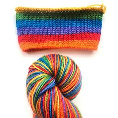 Rainbow BFL sock yarn (NZ self striping wool)