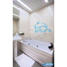 Adesivos de banheiro baleia