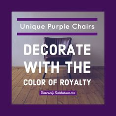 Shop the Look from Funkthishouse on ShopStyle. All purple chairs, check out the variety. #purplechairs #purpledecor #afflnk
