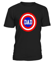 Super Captain Dad T-Shirt Superhero Father's Day Tee Shirt - Limited Edition  Funny dad superhero T-shirt, Best dad superhero T-shirt