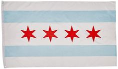 Amazon.com : 3'x5' FLAG of the City of CHICAGO, Illinois IL : Other Products : Patio, Lawn & Garden