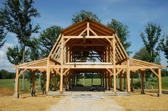 Timber Frame Barn - Bare Timber Frame - Timber Frame Construction - Homestead Timber Frames - Crossville Tennessee