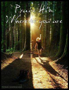 Praise Him...trail running-RHC
