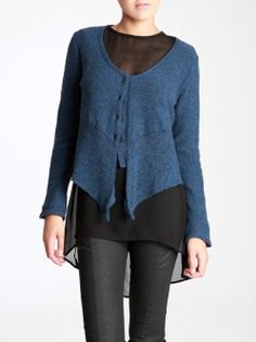 THIN WOOL KNITTED  JACKET
