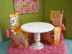 Barbie furniture from Etsy