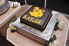 Sailor bear Baylor wedding groom's cake. Sic 'em bears :)