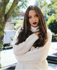 Burgundy Lips, Red Lips, Winter Is Coming, High Neck Dress, Long Hair Styles, Beauty, Instagram, Dresses, Wattpad