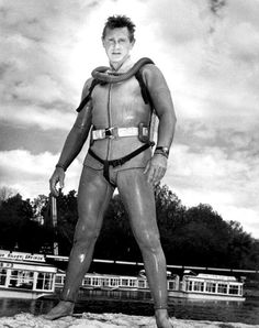 Lloyd Bridges in costume for his TV hit Sea Hunt (1957 - 1961).