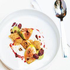 Figues fraîches rôties au jus de Xérès