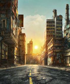 Futuristic urban illustrations by Jonas De Ro
