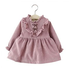 Cheap infant dress, Buy Quality kids dresses tutu directly from China infant ruffle dress Suppliers: Bear Leader Autumn Girls Dresses Long Sleeved Kids Dress Tutu Bow Ruffles Velvet Infants Dress Double Level Vestidos Baby Outfits, Kids Outfits Girls, Toddler Outfits, Fashion Kids, Cute Dresses, Girls Dresses, Baby Dresses, Cotton Dresses, Girl Sleeves