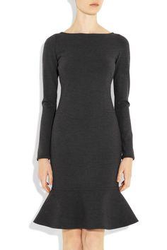 Flared-hem stretch wool-blend dress $1,890 Valentino Net-a-Porter