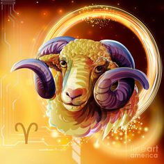 Zodiac Wall Art - Digital Art - Horoscope Signs-aries by Peter Awax Horoscope Signs Sagittarius, Scorpio Art, Astrology Pisces, Zodiac Art, Astrology Zodiac, Scorpio Images, Aries Wallpaper, Arte Aries, Zodiac Star Signs