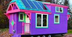 You're about to be blown away by the coolest tiny house I've ever seen. Seriously. Meet Ravenlore, a Victorian-painted tiny house known for its bright, candy-colored siding, trim, and roof. This magically whimsical tiny home on wheels was built by Jim Wilkins of Tiny Green Cabins. It's 176 square feet, 22′ long by 8′ wide,... View Article
