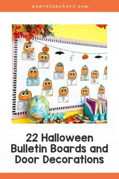Looking for inspiration for Halloween bulletin boards or classroom doors? Try one of these spooktacular themes for your classroom today. Halloween Bulletin Boards, Fall Bulletin Boards, Cute Monsters, Little Monsters, Anti Bullying Month, Frankenstein Art, Spooky Eyes, Classroom Door, Halloween Crafts