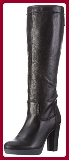 Hilfiger Denim Damen C1385LARISA 3A Langschaft Stiefel, Schwarz (Black 990), 40 EU - Stiefel für frauen (*Partner-Link)