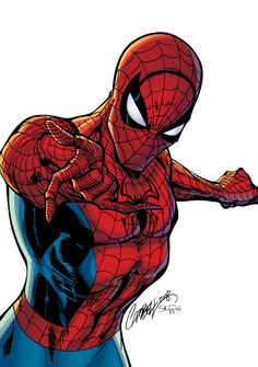 Spiderman - pencils by J. Scott Campbell, inks & colors by J-Skipper - visit to grab an unforgettable cool 3D Super Hero T-Shirt!