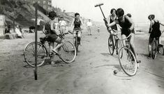 beach bicycle polo