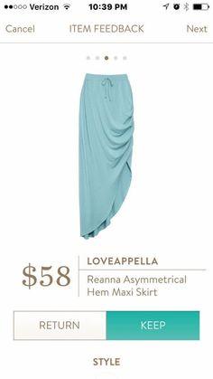 Light blue asymmetrical maxi skirt. Stitch fix spring/summer 2016