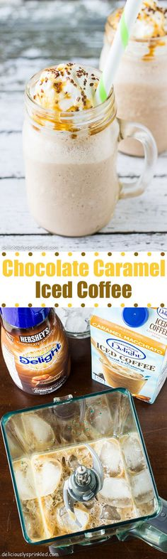 Chocolate Caramel Iced Coffee