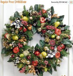 Mackenzie Child Inspired Design Christmas Wreath by TylerInteriors