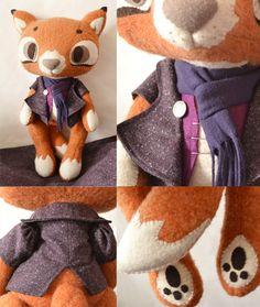 Mr Purple Fox by MarieChou on Etsy