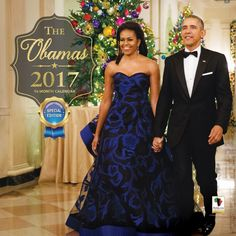 The Obamas: 2017 African American Wall Calendar (Front)