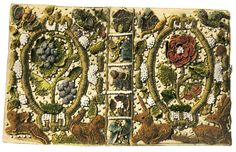 From a book on 16th-17th century English embroidered bookbindings…> buriedthings
