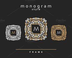 Elegant floral monogram design by Vectorist on @creativemarket