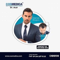 COSMEDICA Dr. Acar (@cosmedicaclinic) • Instagram-foto's en -video's Hair Transplant Results, Plastic Surgery, People, Instagram, People Illustration, Folk