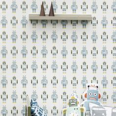 Robots Kid's Wallpaper by Ferm Living