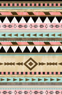 Southwestern Tribal Pattern Art Print. Not only are western aztec prints one of my favourite prints but you see in the design how the aztec works, repeatedly and calmly in bright pastel colours that blend boldly.